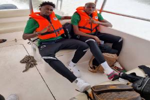 PHOTOS: Super Eagles Players Enjoy Boat Cruise Back To Lagos